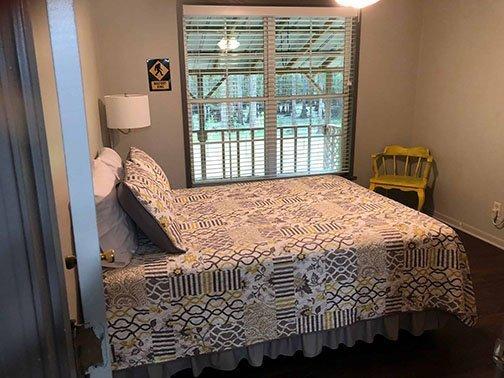 Bed Room • BackWater Jack's • Kayak Cabin